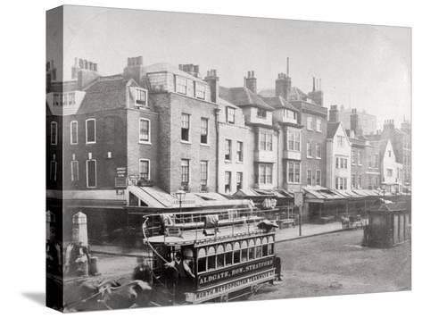 Buildings in Butcher Row, Aldgate High Street, City of London, C1875--Stretched Canvas Print