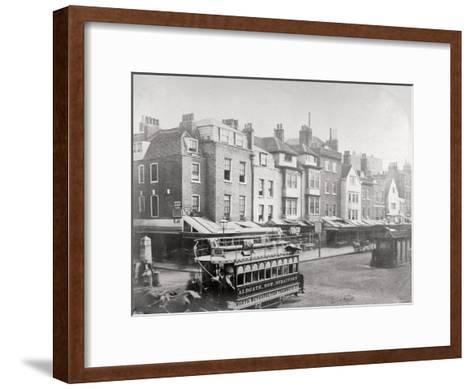 Buildings in Butcher Row, Aldgate High Street, City of London, C1875--Framed Art Print