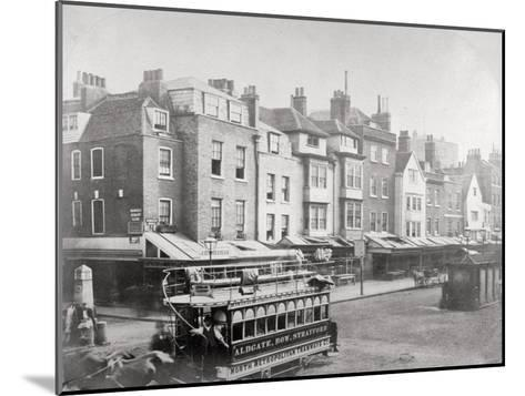 Buildings in Butcher Row, Aldgate High Street, City of London, C1875--Mounted Giclee Print