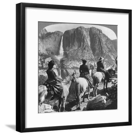 Yosemite Falls, from Glacier Point Trail, Yosemite Valley, California, USA, 1901-Underwood & Underwood-Framed Art Print