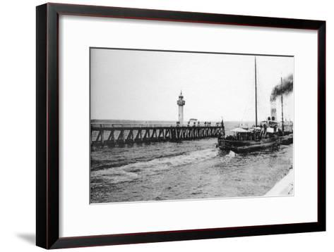 A Steamer Departing from Trouville for Le Havre, France, C1920S--Framed Art Print