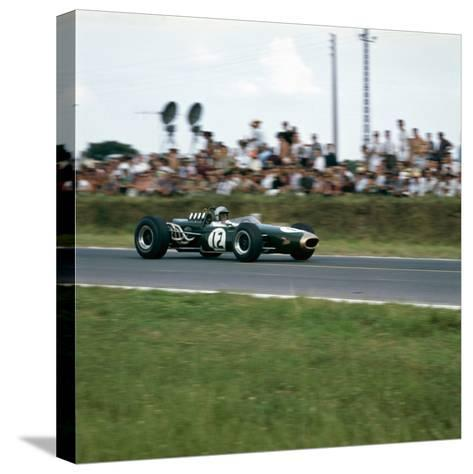 Jack Brabham Racing a Brabham-Repco Bt19, French Grand Prix, Reims, France, 1966--Stretched Canvas Print