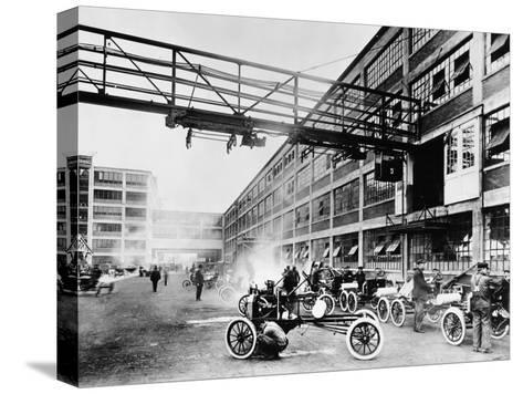The Exterior of the Model T Factory, 1914--Stretched Canvas Print