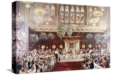 View of the Coronation Luncheon for King George V and Queen Mary Consort, London, 1911--Stretched Canvas Print