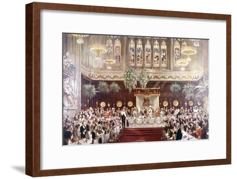 View of the Coronation Luncheon for King George V and Queen Mary Consort, London, 1911--Framed Art Print