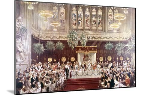 View of the Coronation Luncheon for King George V and Queen Mary Consort, London, 1911--Mounted Giclee Print
