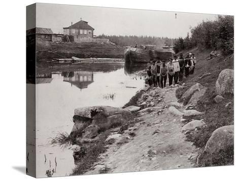 Barge Haulers on the Volga, Russia, C1895--Stretched Canvas Print