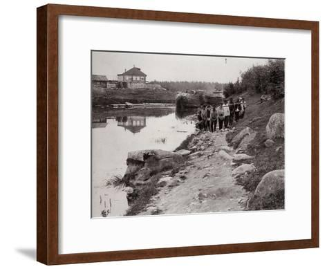 Barge Haulers on the Volga, Russia, C1895--Framed Art Print