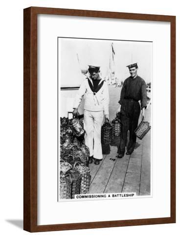 Commissioning a Battleship, 1937--Framed Art Print