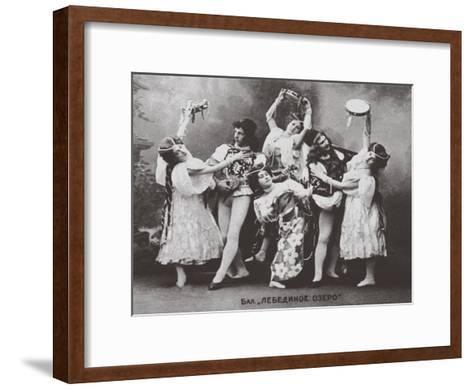 Scene from the Ballet Swan Lake, Mariinsky Theatre, 1895--Framed Art Print