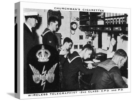 Wireless Telegraphist, (2nd Clas), C.P.O and P.O, 1937- WA & AC Churchman-Stretched Canvas Print