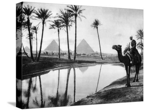 An Oasis Near Cairo, Egypt, C1920S--Stretched Canvas Print