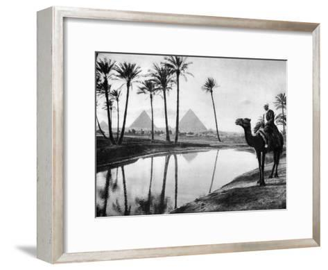 An Oasis Near Cairo, Egypt, C1920S--Framed Art Print