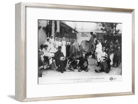 Improvised Camel, Auxiliary Hospital, Rue Lafayette, Paris, France, World War I, 1914-1918--Framed Art Print