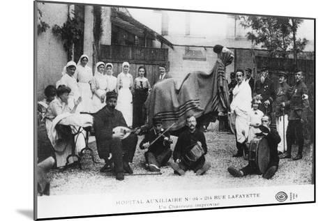 Improvised Camel, Auxiliary Hospital, Rue Lafayette, Paris, France, World War I, 1914-1918--Mounted Giclee Print