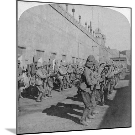 Inspection of the Cheshire Regiment in the Fort at Johannesburg, Boer War, South Africa, 1901-Underwood & Underwood-Mounted Giclee Print