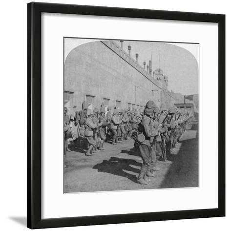 Inspection of the Cheshire Regiment in the Fort at Johannesburg, Boer War, South Africa, 1901-Underwood & Underwood-Framed Art Print