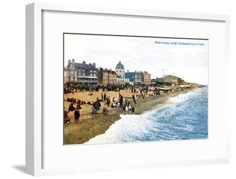 East Parade from the Pier, Worthing, Sussex, Early 20th Century--Framed Art Print