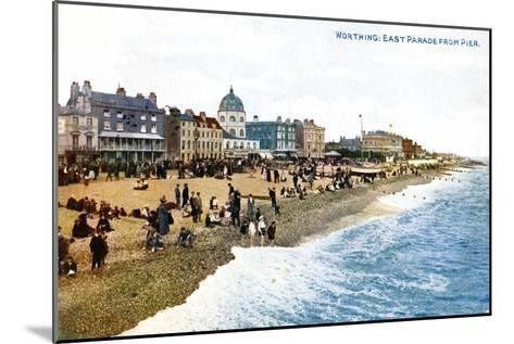 East Parade from the Pier, Worthing, Sussex, Early 20th Century--Mounted Giclee Print