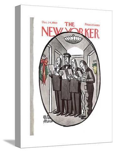 The New Yorker Cover - December 24, 1960-Peter Arno-Stretched Canvas Print