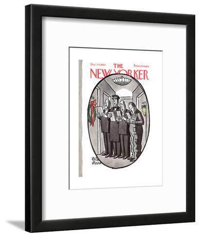 The New Yorker Cover - December 24, 1960-Peter Arno-Framed Art Print