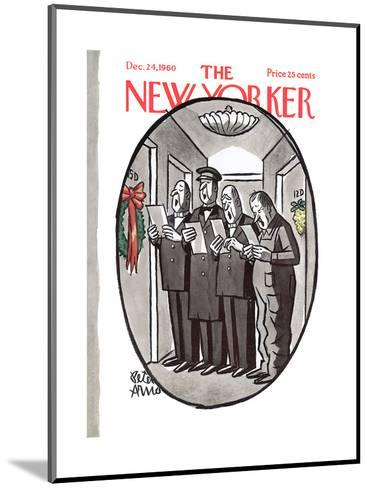 The New Yorker Cover - December 24, 1960-Peter Arno-Mounted Premium Giclee Print