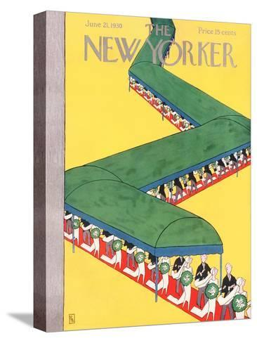 The New Yorker Cover - June 21, 1930-Gardner Rea-Stretched Canvas Print