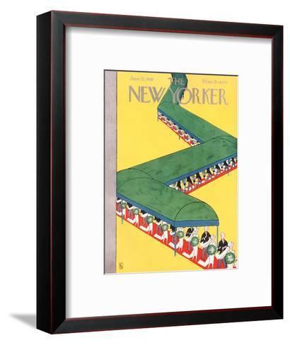 The New Yorker Cover - June 21, 1930-Gardner Rea-Framed Art Print