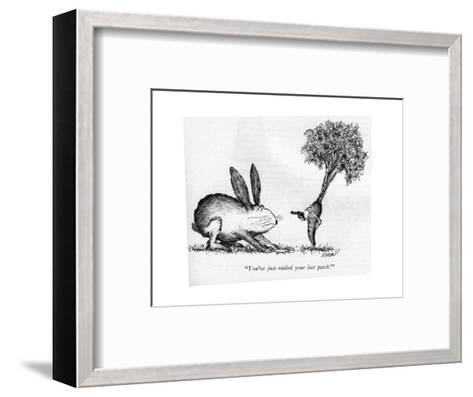 """You've just raided your last patch!"" - New Yorker Cartoon-Edward Koren-Framed Art Print"