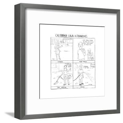California Lawn Alternatives - Cartoon-Emily Flake-Framed Art Print