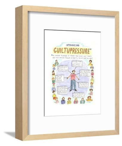 "Introducing GuiltuPressure:The ancient technique of finding your child's ?"" - Cartoon-Roz Chast-Framed Art Print"