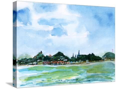 Xiamen Gulangyu Island Watercolor-jim80-Stretched Canvas Print