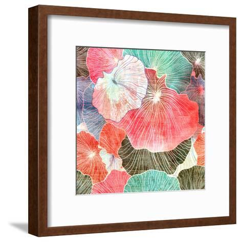 Abstract Bright Colorful Background-tanor27-Framed Art Print