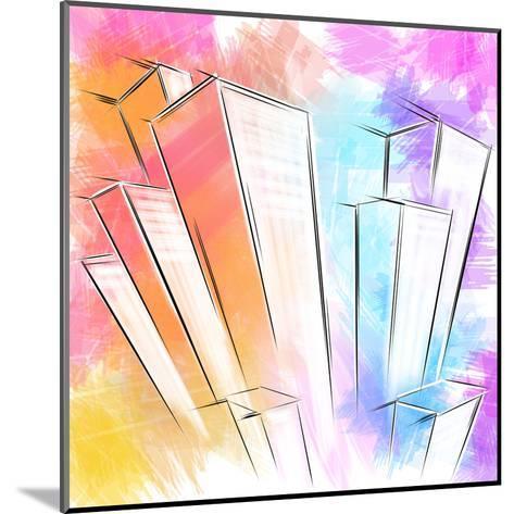 Wolkenkratzer- patila-Mounted Art Print