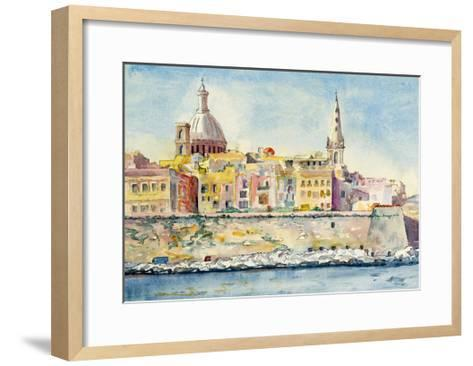 A Watercolor Painting of Valletta, Malta-clivewa-Framed Art Print