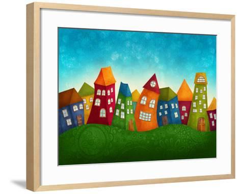 Fantasy Colorful Houses-Elena Schweitzer-Framed Art Print
