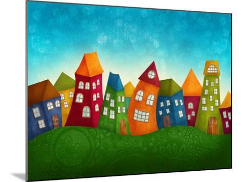 Fantasy Colorful Houses-Elena Schweitzer-Mounted Art Print