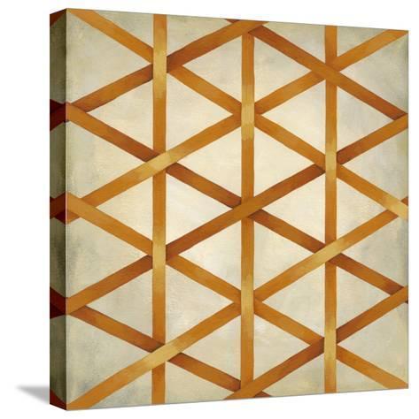 Woven Symmetry IV-Chariklia Zarris-Stretched Canvas Print