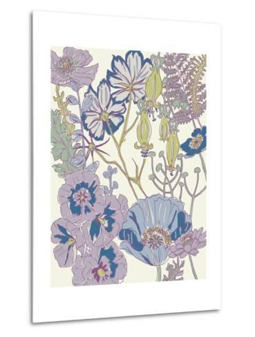 Graphic Garden III-Chariklia Zarris-Metal Print