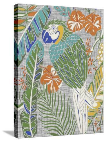Tropical Macaw-Chariklia Zarris-Stretched Canvas Print