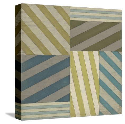 Nautical Stripes I-June Erica Vess-Stretched Canvas Print