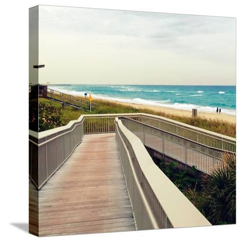 Ocean Front Park-Lisa Hill Saghini-Stretched Canvas Print