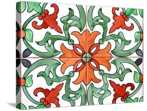 Spanish Tiles I-Jairo Rodriguez-Stretched Canvas Print
