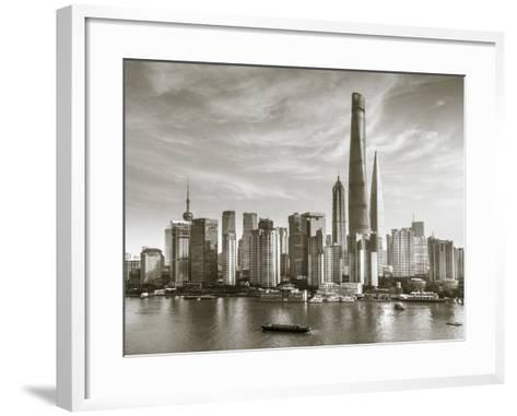 Shanghai Tower and the Pudong Skyline across the Huangpu River, Shanghai, China-Jon Arnold-Framed Art Print