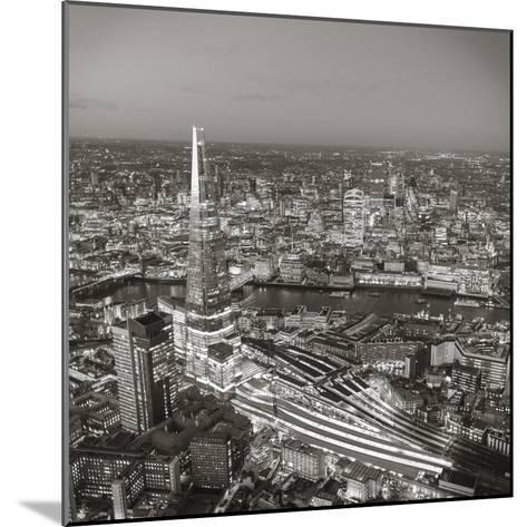 Night Aerial View of the Shard and City of London, London, England-Jon Arnold-Mounted Photographic Print