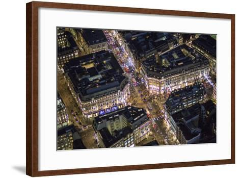 Night Aerial View of Oxford Circus, London, England-Jon Arnold-Framed Art Print