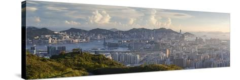 View of Kowloon and Hong Kong Island from Tate's Cairn, Kowloon, Hong Kong-Ian Trower-Stretched Canvas Print