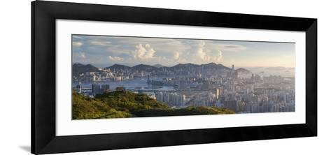 View of Kowloon and Hong Kong Island from Tate's Cairn, Kowloon, Hong Kong-Ian Trower-Framed Art Print