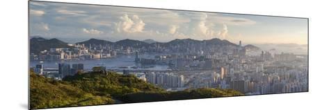 View of Kowloon and Hong Kong Island from Tate's Cairn, Kowloon, Hong Kong-Ian Trower-Mounted Photographic Print