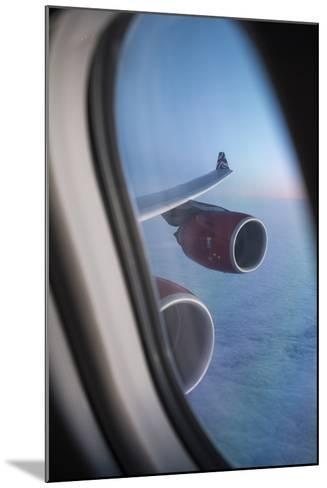 Airbus A340 Aircraft, View Out of the Window with Engine and Wing-Jon Arnold-Mounted Photographic Print